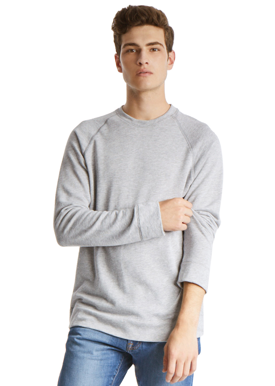 TAGS Longsleeve Crew Neck <p>A failsafe addition to your everyday lineup, this comfy heather-grey sweatshirt features raglan sleeves and crew neckline for a look that transcends seasons.</p>