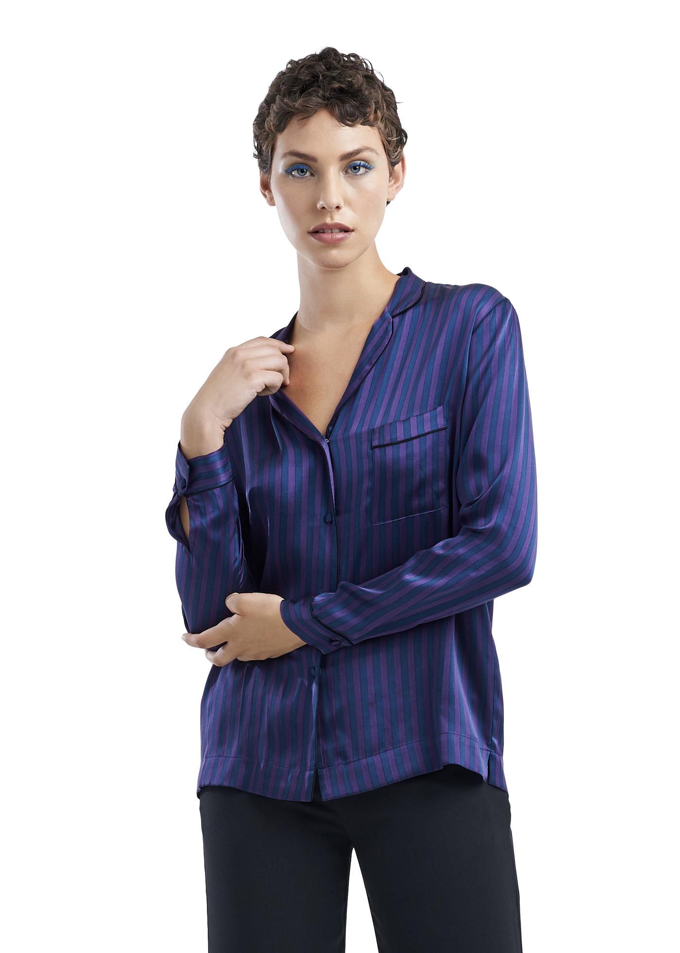 TAGS Woven L/S Stripe Pajama Shirt